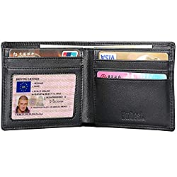 ✅ Measures 4.33x3.54 inch ✅ Our RFID wallets are equipped with advanced unique military grade shielding technology & proprietary blocking material. Protect your RFID Credit Cards, Debit Cards, ID Cards from electronic pick pocketing. ✅ SLIM AND STYLI...