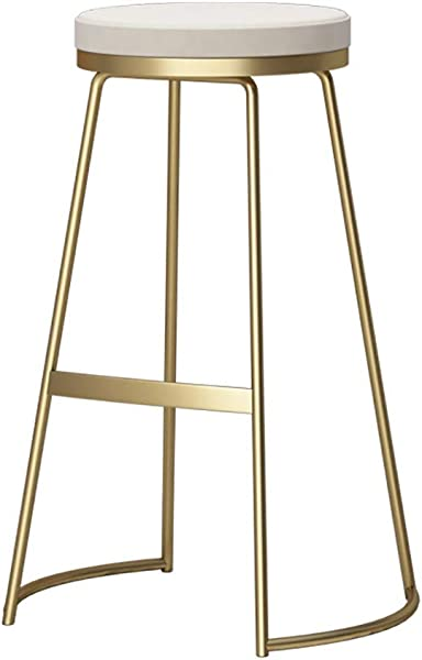 Household Products Bar Chair Iron Art Creative Gold Barstool Nordic Simple Bar Stool Cafe Beauty Stool Size 355365cm