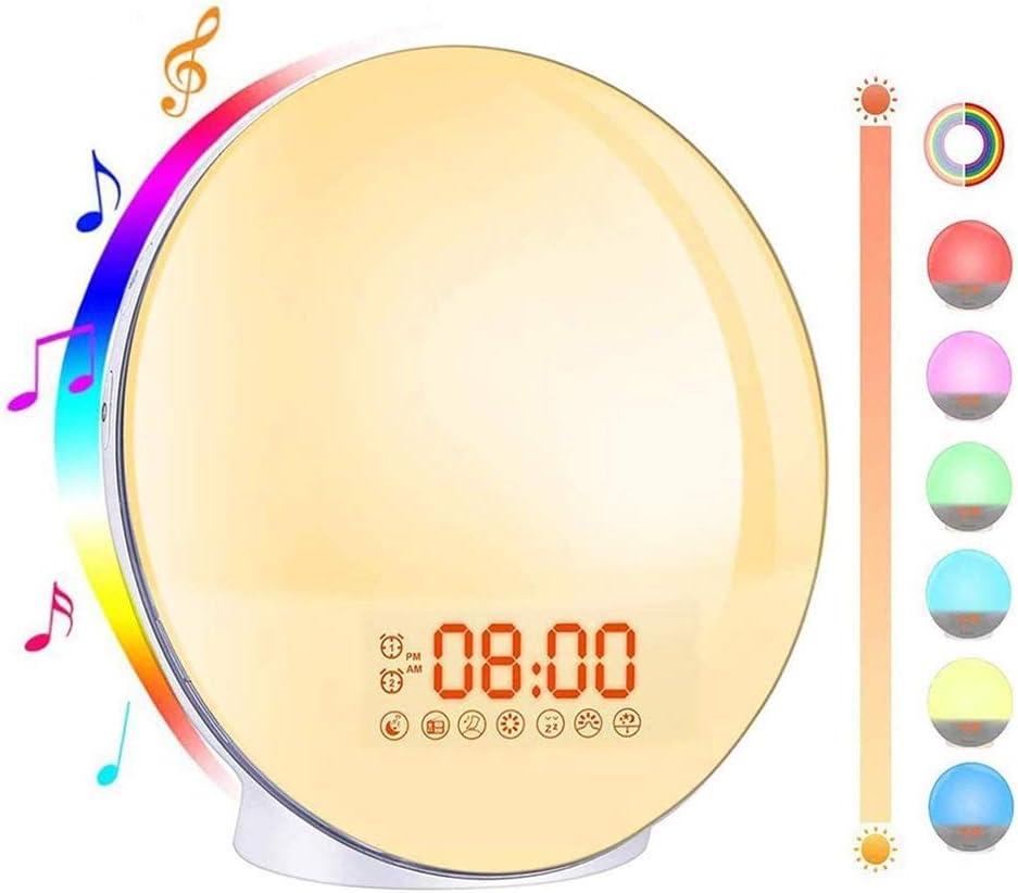 ZJH LED Wake Max 77% OFF Up Light Sunrise Clock Simulation Radios New color Dua Sunset