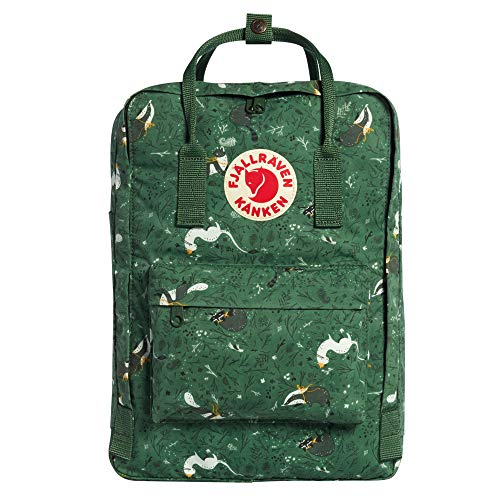 "Fjallraven, Kanken Art Laptop 15"" Special Edition Backpack for Everyday, Green Fable"