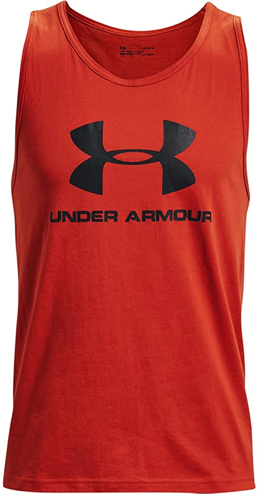 Under Armour Sportstyle Logo Tank, Men's Vest with Soft Feel and Loose Cut, Sleek Men's Sleeveless T-Shirt with Graphic Design Men