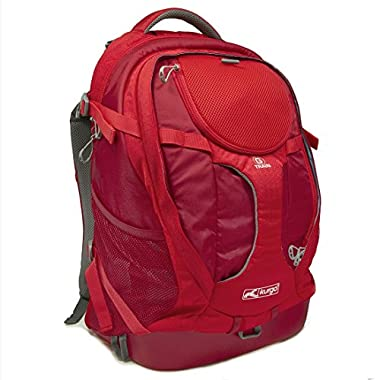 Kurgo G-Train Water Proof Dog Travel Backpack and Pet Carrier Backpack for Adventurous Small Dogs, Chili Red