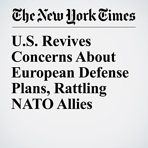 U.S. Revives Concerns About European Defense Plans, Rattling NATO Allies copertina