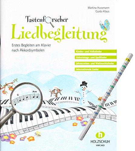 Tastenforscher Liedbegleitung – ideal für Anfänger und Wiedereinsteiger am Klavier [Noten/sheet music] mit praktischem Bleistift