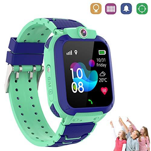 Reloj Inteligente Niños con Smartwatch Niños Llamadas Reloj Deportivo Niño Pulsera de Actividad Inteligente Niños (9B09308 Verde)