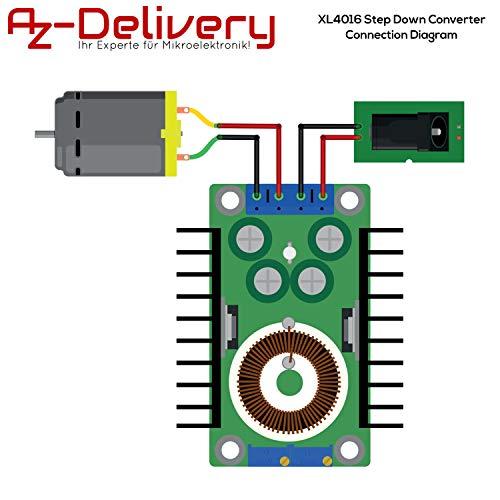AZDelivery 3 x XL4016 Step Down Converter DC-DC 5-40V bis 1,2-35V kompatibel mit Arduino inklusive E-Book!