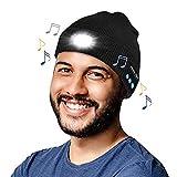 Bonnet de Musique Bluetooth,LED Bluetooth Bonnet Lumineux, USB Rechargeable Musical Running Chapeau de la Lumière pour Ski Randonnée Camping Vélo