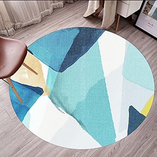 Alfombras de área de geometría 80 cm 100 cm 120 cm 140 cm 160 cm 180 cm 200 cm Alfombra redonda para sala de estar Sala de lectura Mesa de centro Sofá Sofá Suelo antideslizante. ( Size : 140cm )