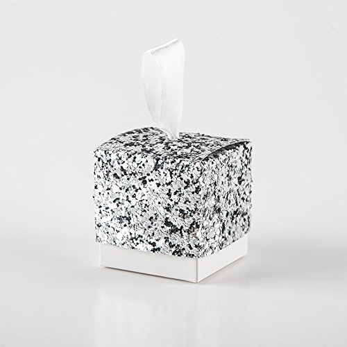 Romsion Home 50 Stks Bruiloft Favor Dozen Set Creatieve Sprankelende Glitter Papier Snoep Suiker Geschenkdozen voor Bruids Douche Baby Verjaardagsfeestje