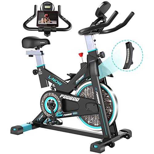 pooboo Magnetic Indoor Cycling Bike, Belt Drive Indoor...
