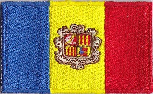Flaggen Aufnäher Patch Andorra Fahne Flagge - 6 x 3,5 cm