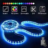 LED Strip Light Kit 16.4ft/5m Flexible Color Changing RF Remote Led Lights Strips