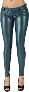 YezefennhfWCK بناطيل للنساء، سروال جلد صناعي، سروال جلدي، سروال ضيق، سروال نسائي من الجلد القطني، سروال ضيق (مقاس: XXX-Large)