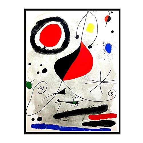 HJZBJZ Cuadro de Lienzo Grande Arte Abstracto Joan Miro Cuadros de Pared para Sala de Estar Famosos Carteles Impresos de arte-20X30 Pulgadas Sin Marco 1 Uds