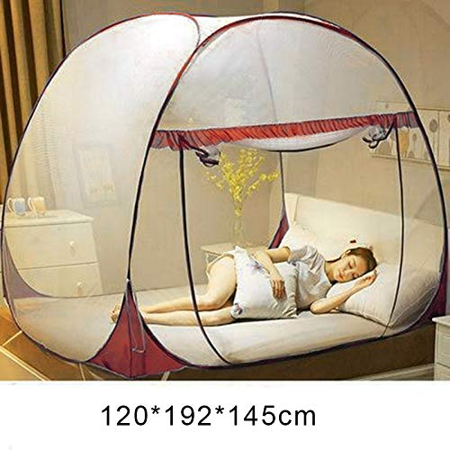 Flykee Portable Travel Mosquito Net, Anti-Mosquito Pops-up Mesh Tent Home Indoor Outdoor Garden Mosquito Net Easy Dome Mosquito Nets for Camping Travel Home Outdoor