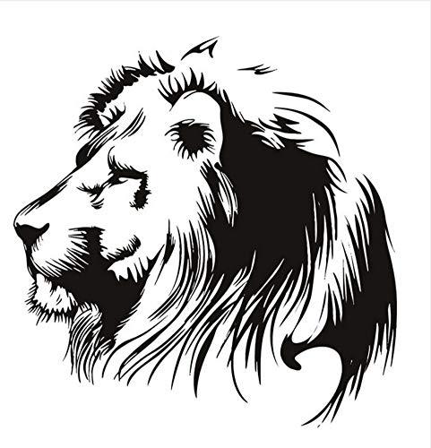 3D Vinyl Kunst Aufkleber Schwarz Kopf Von Lion Whiteboard Wandaufkleber Steuern Dekor Wohnzimmer Tier Wandbilder Für Kinder 56x56 cm