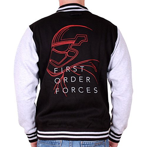 Star Wars College Jacke First Order Forces Captain Phasma schwarz grau - XL