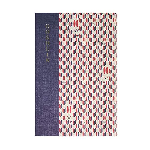 【御朱印帳】 集印帳 (特大) 蛇腹 komon+ コモンプラス 矢絣うさぎ