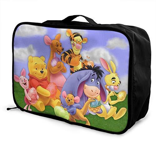 Meirdre - Borsone da viaggio con Winnie Pooh e amici, leggero, grande capacità, portatile, borsa da viaggio