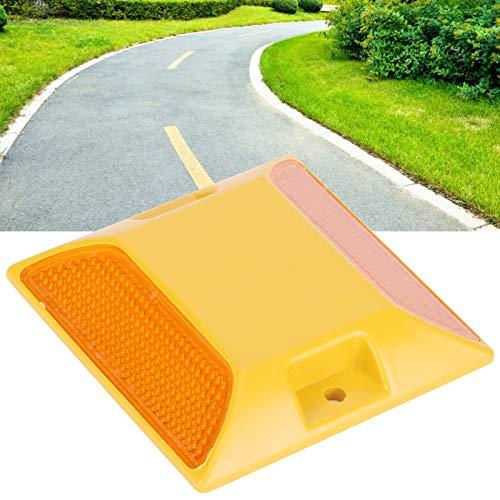 Marcador reflectante, espárrago de carretera, amarillo resistente al desgaste seguro duradero y duradero, fabricación profesional, buen rendimiento, para entrada de auto, camino privado,