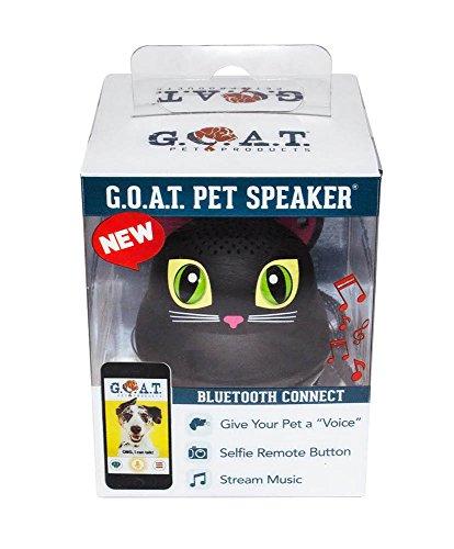 G.O.A.T. Pet Products Bluetooth Pet Speaker - Black Cat - Shark Tank Winner 2018! Massachusetts