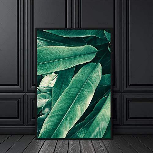 jiushice Nordic Modern Canvas 1 Panel Plant Wall ng Art Decoration para Decoraciones de Oficina en casa Green Leaf Canvas ng Top Sell 1 40X50cm