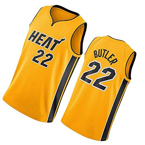 Jerseys de Adultos, Miami Heat 22# Jimmy Butler, 14# Tyler Herro Baloncesto Swingman New Fan Chalt Camiseta, Secado rápido y Transpirable NO.22-L