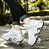 Roller Shoes Adulte Chaussure Roller Fille Kick Roller Skate Shoes Patins A roulettes 4 Roues Patins A roulettes Casual Sneakers,EUR38