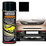 MACOTA 1210084 Vernice Spray per Plastica e Gomma Testurizzato, Nero, 400 ml