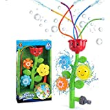 Sunshine smile Sprinkler Spielzeug für Kinder,Spielzeug Wasser Sprinkler,Wasserspielzeug Sprinkler,Wassersprinkler Garten Kinder,Sprinkler für Outdoor Garten,Wasserspielzeug für Sommer(Blumen)