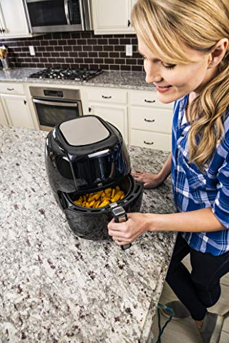 GoWISE USA 1700-Watt 5.8-QT 8-in-1 Digital Air Fryer and 50 Recipes for your Air Fryer Book (Black)