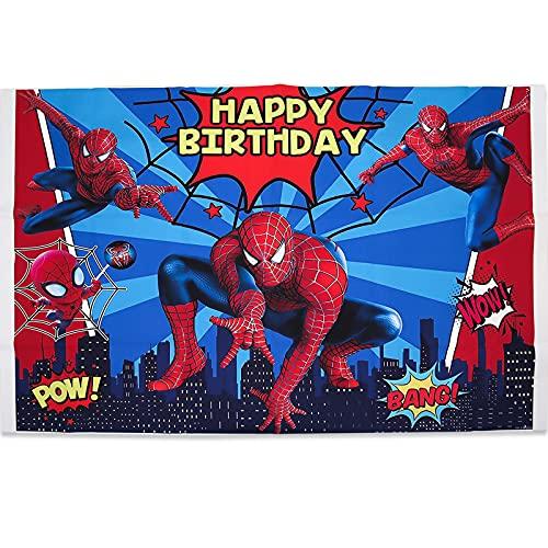Spiderman Arrière plan, Accessoires de Fête de Super-héros, Décoration de Fête d'anniversaire pour Enfants, Fond de photo Spiderman, Décoration de Table de Gâteau pour Fond de Fête de Douche de bébé