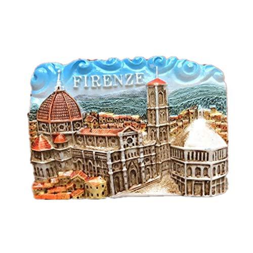 Bella Magneti per FrigoriferoCalamite da Frigo in Resina Viaggio Souvenir Italia Firenze Basilica di Santa Maria del Fiore Campanile di Giotto Fridge Magnet Sticker