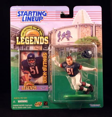 DICK BUTKUS CHICAGO BEARS 1998 Pro Football Hall of Fame Legends NFL Starting Lineup Action product image