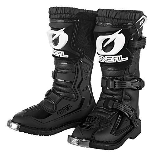 O'NEAL | Botas de Motocross | Enduro de Motocross | IPX-ProtecciónProtección integrada de los dedos, comodidad gracias a la tela de malla de aire | Bota Rider Youth | Niños | Negra | Talla 13/34