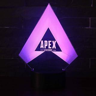 3D Lámpara óptico Illusions Luz Nocturna, CKW 7 Colores Cambio de Botón Táctil y Cable USB para Cumpleaños, Navidad Regalos de Mujer Bebes Hombre Niños Amigas (M)