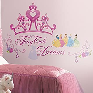 RoomMates Disney Princess and Princess Crown Peel and Stick Giant Wall Decals - RMK1580GM