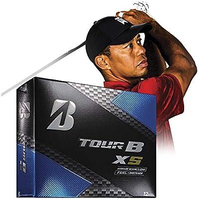 Bridgestone Golf Tour B XS Pelotas de Golf, Color Blanco (una docena) - 760778083017