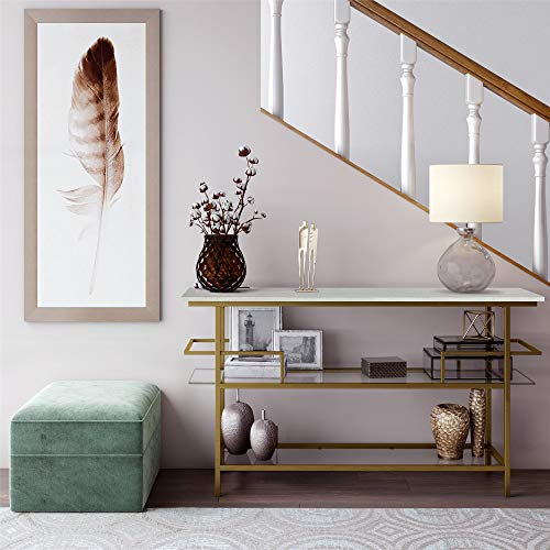 CosmoLiving by Cosmopolitan CosmoLiving Barlow Bar Unit, Soft Brass Table Console