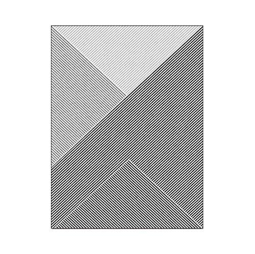 artkingdom Alfombras para Sala de Estar Alfombras de Dormitorio Alfombra Piso Cuadrilátero Gris Oscuro Tamaño 80 * 120 cm