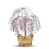 Ornamento de Escritorio Crystal Tree Lucky decoración del árbol de Feng Shui Decoración tienda de don apertura Protección don espiritual meditación Dinero de la suerte Decoración artesanías decoración