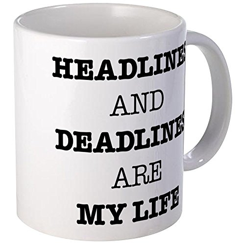 CafePress Headlines And Deadlines Are My L Unique Coffee Mug, Coffee Cup