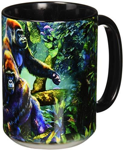The Mountain Unisex-Erwachsene Gorilla Jungle Coffee Mug Winter-Zubehr-Set, schwarz, 15 oz