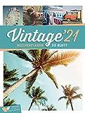 Vintage - Wochenplaner Kalender 2021, Wandkalender im Hochformat (25x33 cm) - Nostalgie im Retro-Look - Wochenkalender mit Rätseln und Sudokus