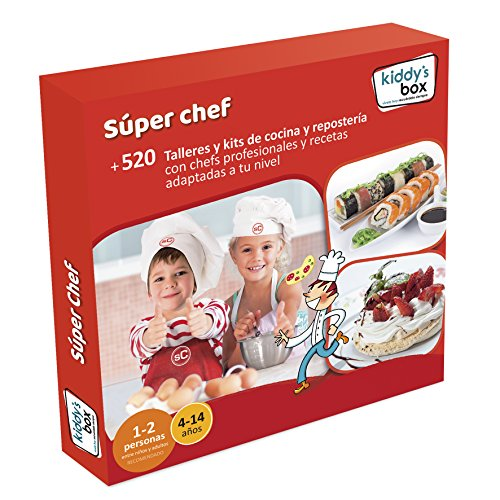"""COFRE DE EXPERIENCIAS """"SÚPER CHEF"""" - Más de 520 talleres y kits de cocina y repostería con chefs profesionales"""