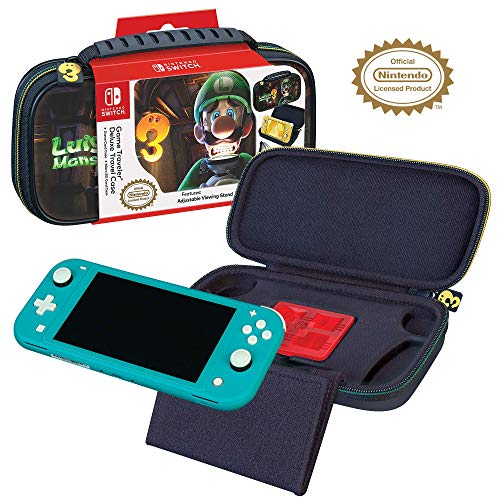 Officially Licensed Nintendo Switch Luigi's Mansion 3 Lite Carrying Case - Hard Shell Travel Case with Adjustable Viewing Stand - Game Case Included