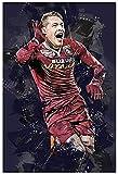 ZRRTTG Lienzo Pintura Al óLeo Fútbol Kylian Mbappe Imagen HD para ación para decoración de Porche Poster Y Estampados Arte Cuadros 15.7'x23.6'(40x60cm) Sin Marco