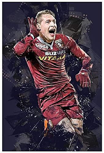 """ZRRTTG Lienzo Pintura Al óLeo Fútbol Kylian Mbappe Imagen HD para ación para decoración de Porche Poster Y Estampados Arte Cuadros 15.7""""x23.6""""(40x60cm) Sin Marco"""