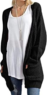 Women Long Sleeve Cable Sweaters Open Front Cardigan