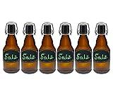 hocz 6/10 Set Bügelflaschen Bügelflasche Glasflaschen Bier | Füllmenge 330ml | Farbe Braun |...